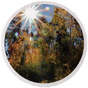 Fall Mt. Lemmon 2017 Round Beach Towel