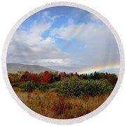 Fall Rainbow Round Beach Towel