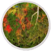Fall Reflections 2017 Round Beach Towel