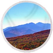 Fall Rolls Through Round Beach Towel