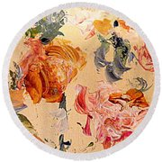 Fall Roses Round Beach Towel