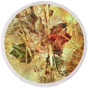 Fall Treasures Round Beach Towel