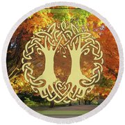Fall Wedding Round Beach Towel