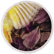 Round Beach Towel featuring the photograph Fallen by Amy Weiss