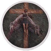 Fallen Angel #2 Round Beach Towel