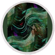 Round Beach Towel featuring the digital art Fallen Angle by Sheila Mcdonald