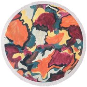 Falling For You Round Beach Towel by Esther Newman-Cohen