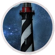 Falling For You St Augustine Lighthouse Round Beach Towel