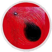 Falling In To Passion Round Beach Towel