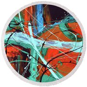 Falling Into Autumn Round Beach Towel by Donna Blackhall