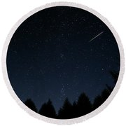 Round Beach Towel featuring the photograph Falling Star by Katie Wing Vigil