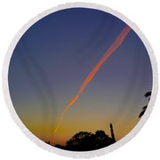 Falling Star Round Beach Towel by Mark Blauhoefer