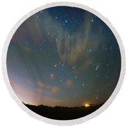 Round Beach Towel featuring the photograph Falling Stars by Karen Slagle