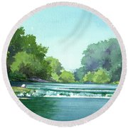 Falls At Estabrook Park Round Beach Towel