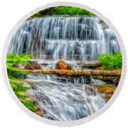 Round Beach Towel featuring the photograph Falls On Sable Creek by Nick Zelinsky