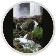 Round Beach Towel featuring the photograph Falls by Raymond Earley