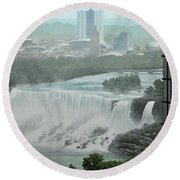 Falls View Round Beach Towel