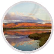 Fallsets On Cherry Pond Round Beach Towel