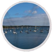 Falmouth Harbour Round Beach Towel