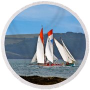 Falmouth Reggatta  Round Beach Towel