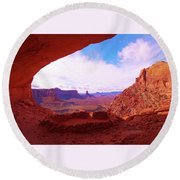 False Kiva Round Beach Towel