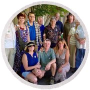 Family And Friends Reunion Round Beach Towel