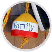 Family Buoy Round Beach Towel