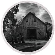 Family Farm Round Beach Towel by Tricia Marchlik