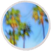 Family Of Four Round Beach Towel