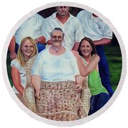 Family Portrait Round Beach Towel by Ruanna Sion Shadd a'Dann'l Yoder