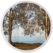 Family Roots Round Beach Towel