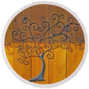 Family Tree Round Beach Towel