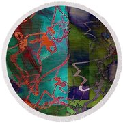 Fanciful Round Beach Towel