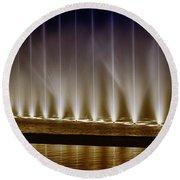 Fanfare Fountains Round Beach Towel