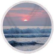 Fanore Sunset 1 Round Beach Towel