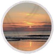 Fanore Sunset 3 Round Beach Towel