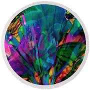 Fantasia  Round Beach Towel by Don Wright