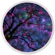 Fantastic Starry Night Round Beach Towel