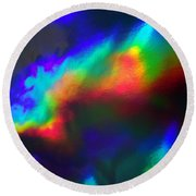 Heavenly Lights Round Beach Towel