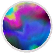 Summer Lights Round Beach Towel