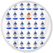 Fantasy Football Team Round Beach Towel