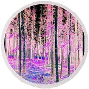 Fantasy Forest Round Beach Towel