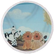 Fantasy Land Round Beach Towel