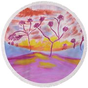 Globe At Sunset Round Beach Towel by Meryl Goudey