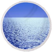 Far And Away Round Beach Towel