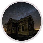 Round Beach Towel featuring the photograph Far Away by Aaron J Groen