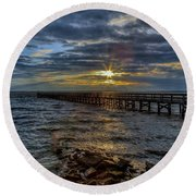 Round Beach Towel featuring the photograph Far From Home by Jerry Gammon