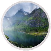 Round Beach Towel featuring the photograph Far From The Crowd by Dmytro Korol