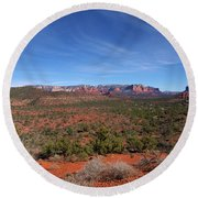 Far View Round Beach Towel