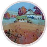 Farm Charm Round Beach Towel